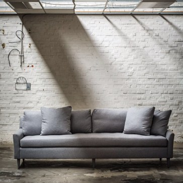 blanche sofa in sueded flannel