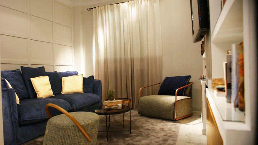 Diseño salón cálido interiorismo Sevilla