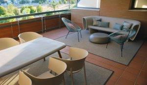 Vista Terraza exterior ático aljarafe artefactum interiorismo Sevilla C