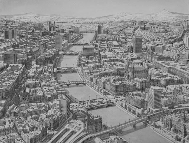 dibujo ciudad irlanda