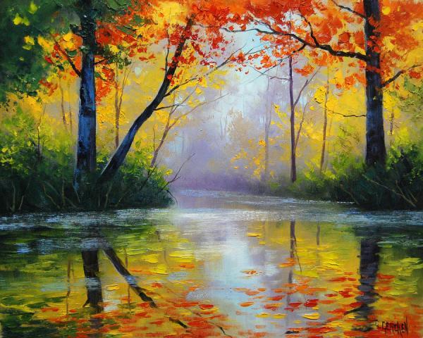 Bellas pinturas de paisajes de graham gercken arte feed for Pinturas acrilicas para cuadros