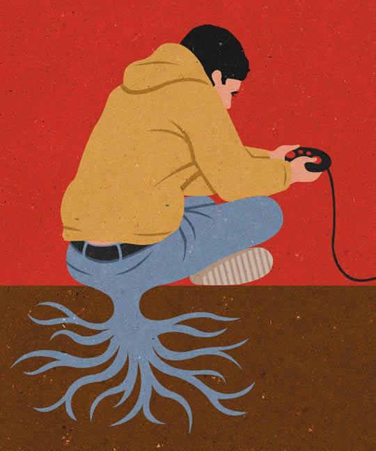 Sociedad actual - Ilustraciones de John Holcroft 13