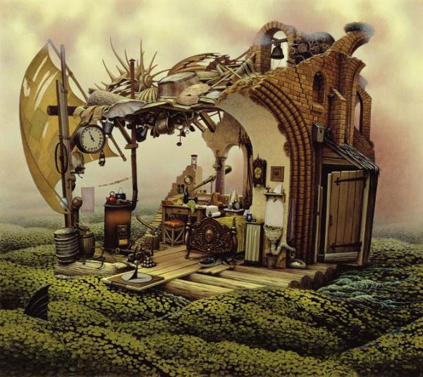 Jacek Yerka pinturas surrealistas 3