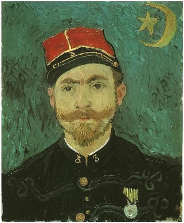 Retrato de Milliet; Segundo teniente del Zouaves