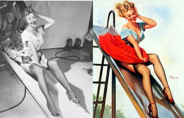 photoshop antiguo pin up 4