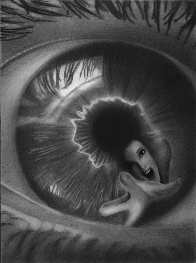 dibujos de ojos realistas  7