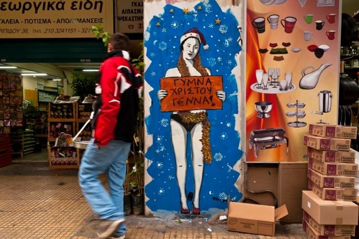 Santa claus graffiti 2