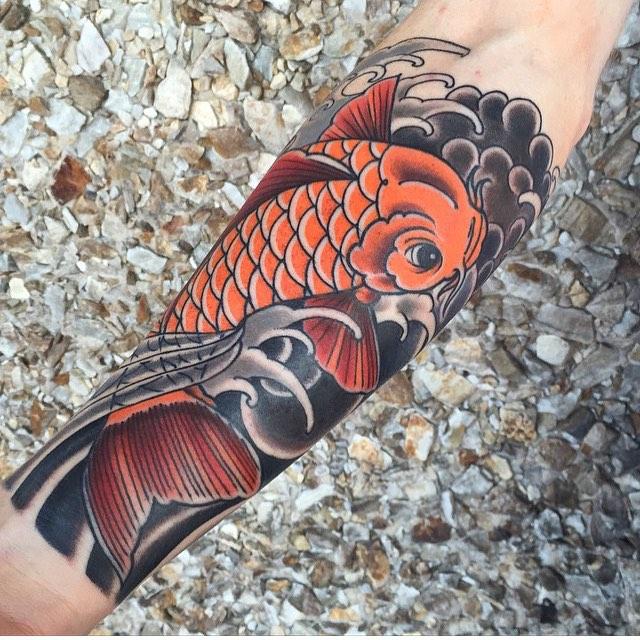 ejemplos tatuajes de peces estilo oriental 2