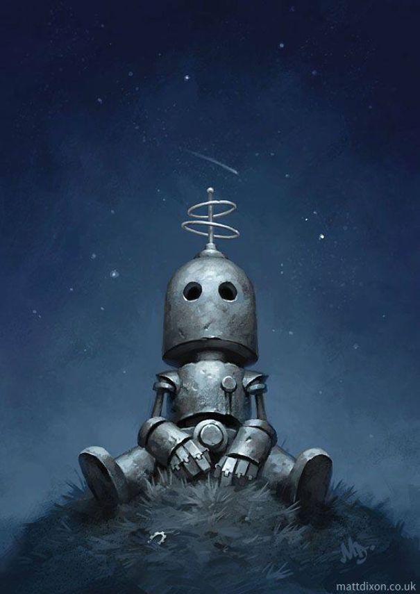 solitaria-vida-robot-ilustraciones-matt-dixon 2