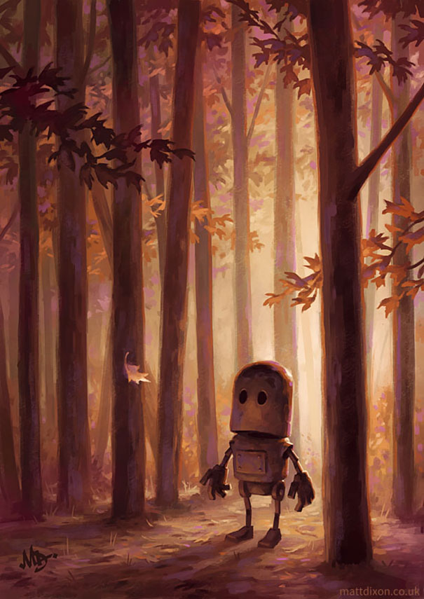 solitaria-vida-robot-ilustraciones-matt-dixon 3