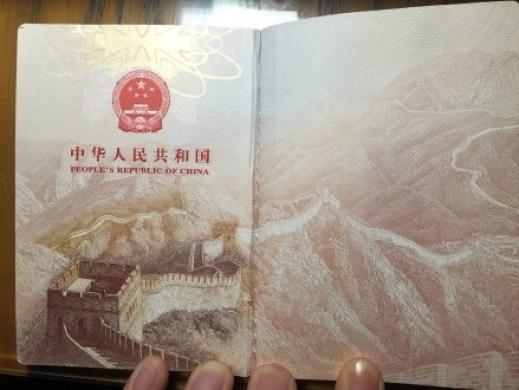 Pasaporte china 1
