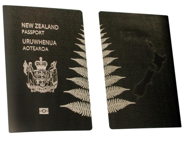 The design for the new distinctive New Zealand passport unveiled, Wellington, New Zealand, Tuesday, September 02, 2008. Credit:NZPA / Grant Fleming