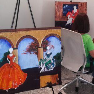 Pintando junto a Teté
