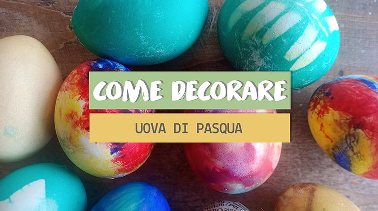 decorare uova