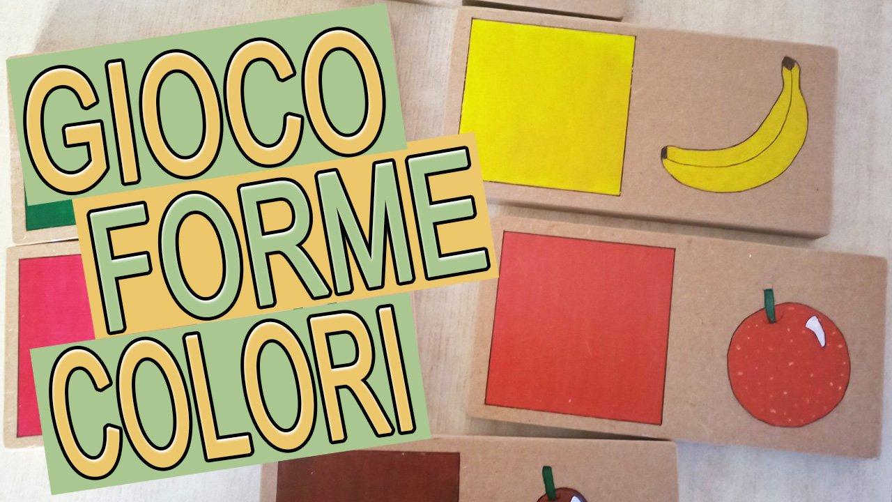 gioco colori forme frutta