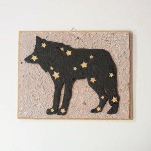 Quadretto lupo stelle
