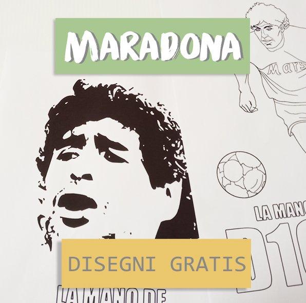 maradona disegni gratis