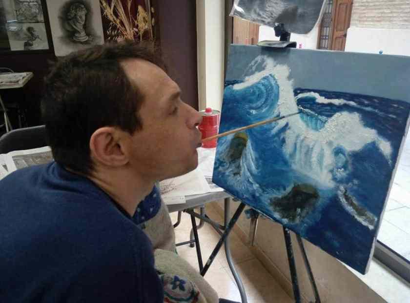 Francisco Javier Planells Alós Artista pintor con la boca