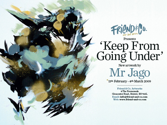 Mr Jago Solo Show Flyer