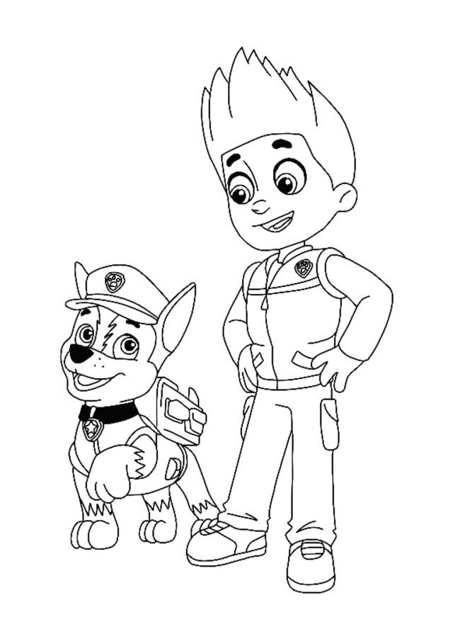 Paw Patrol Coloring Pages Ryder