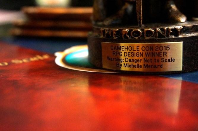 Closeup of the plaque