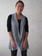Long ribbed vest