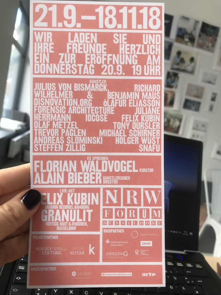Einladungskarte NRW-Forum