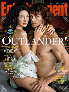 Outlander S2 photoshoot EW couverture