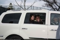Kristen dans son carrosse blanc