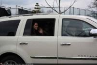 Kristen dans son carosse blanc