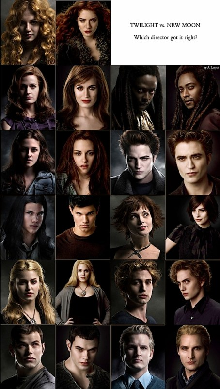 TWILIGHT VS NEW MOON - COMPARATIF