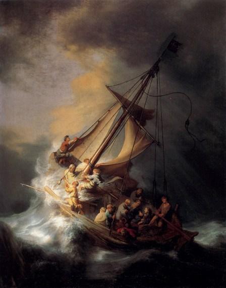 Rembrandt- Le Christ dans la tempête sur le lac de Galilée