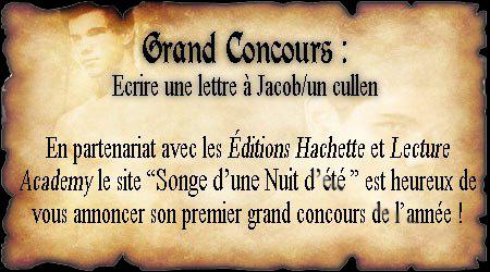 Concours - Une Lettre à Jacob/ Un Cullen