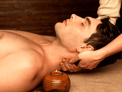 male neck massage.small