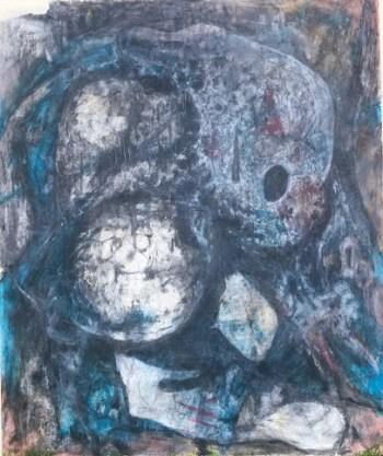 abstraktes Bild in Grau