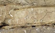 Detalle de las cruces grabadas en el conjunto rupestre de Peña Tú. © Francisco Valle Poo