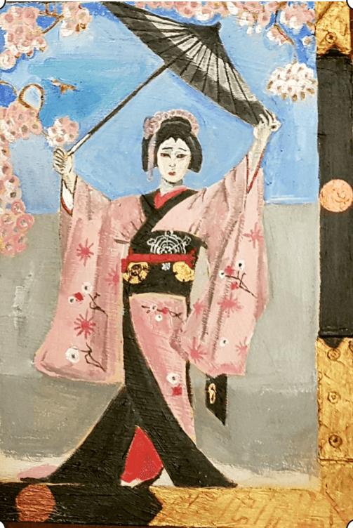 Danza de la sombrilla: es traicionada por su amante