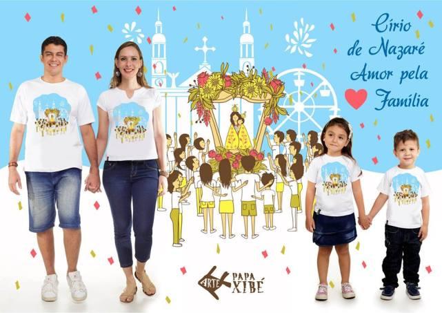 Camisas Círio da família. Consultar tamanhos disponíveis.