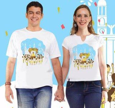 Camisas feminina e masculina Círio da família: R$ 30,00 (Preço promocional). Todos os tamanhos disponíveis.