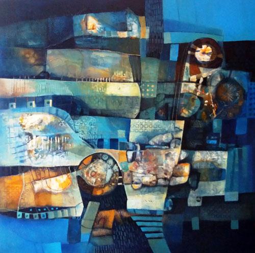 Tiempo, espacio y vida (2016) Acrílico sobre lienzo