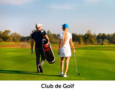 club golf personas entorno