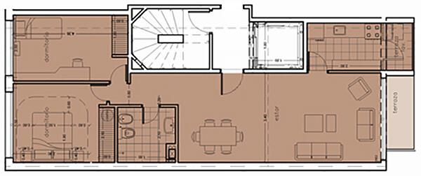 monterrey 2 dormitorios