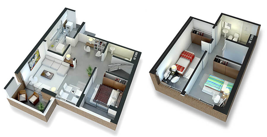 citadino prado plano 3 dormitorios