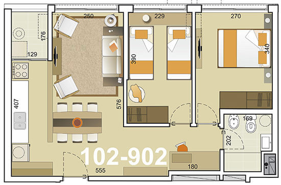 torre indigo plano 2 dormitorios 02