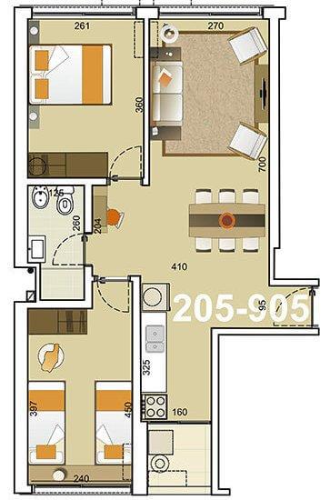torre indigo plano 2 dormitorios 05