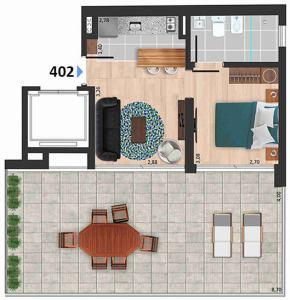 Soleil Playa 1 dormitorio 402