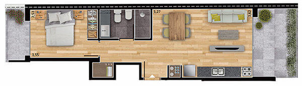 espacio soho 1 dormitorio 101