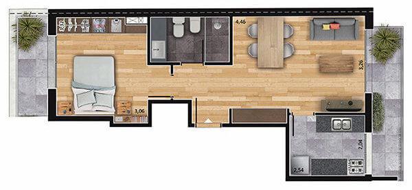 espacio soho 1 dormitorio 801