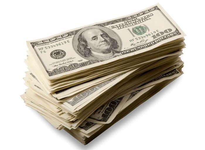 dolares billetes muchos