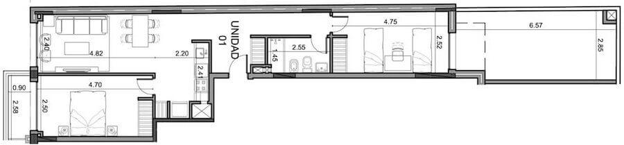 Alta Corte 2 Dormitorios penthouse 1103
